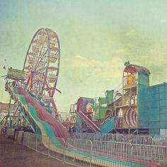 retro carnival by Rhiannon Banda-Scott Soft Colors, Pastel Colors, Pastels, Fair Rides, Retro, Carrousel, Carnival Rides, Pastel Palette, Fun Fair