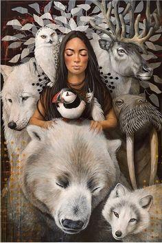 Illustrations, Illustration Art, Spiritual Animal, Spiritual Paintings, Visionary Art, Creative Portraits, Wildlife Art, Native American Art, Whimsical Art