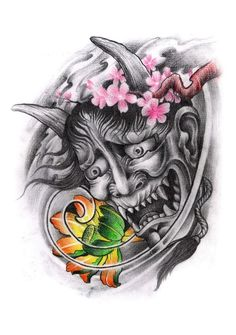 mascara oni tattoo - Buscar con Google