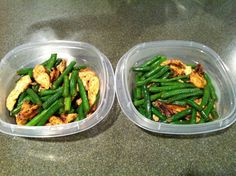 Chicken & Green Beans healthy lunch recipe, make ahead and have lunch/dinner all week!