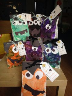 Monster goodie bags! Super easy and fun!