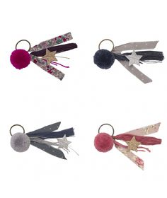 Numero 74 Keychain Pompom mix colors