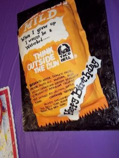 Taco Bell Mild Sauce Made for a Taco Bell FANATIC! Her mother told me they go to get these packets just to read the phrases. Beautiful Cakes, Amazing Cakes, Pizza Recipes, Snack Recipes, Realistic Cakes, Themed Birthday Cakes, 50 Birthday, Easy Pizza Dough, Crazy Cakes