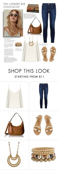 """""""Fashion meets Intellect"""" by stileclassico ❤ liked on Polyvore featuring Raey, Hudson, Elliott Lucca, Ancient Greek Sandals, Melrose & Market and Bold Elements"""