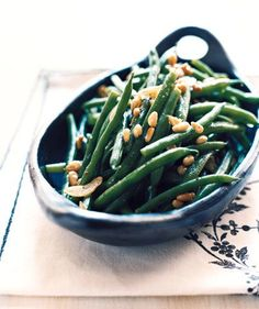 Garlicky Green Beans With Pine Nuts | Get the recipe for Garlicky Green Beans With Pine Nuts.
