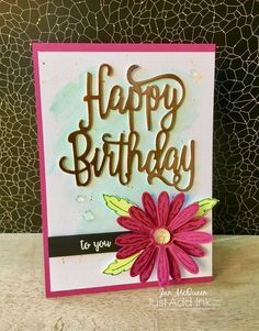 Birthday card using Stampin Up's Happy Birthday Gorgeous and Daisy Delight Stamp sets by Jan McQueen. More info @ www.janscreativecorner.blogspot.com