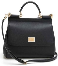 Dolce amp gabbana  Small Miss Sicily  Leather Satchel - Black Mens Clothing  Styles 29df5d40c7878