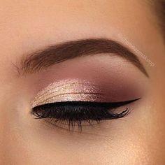 Prom Eye Makeup, Gold Eye Makeup, Natural Eye Makeup, Pink Makeup, Makeup Eyeshadow, Beauty Makeup, Green Makeup, Gold Eyeshadow, Bridal Makeup