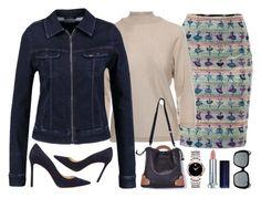 Pencil skirt & co ;-) by amisha73 on Polyvore featuring moda, MaxMara, Jimmy Choo, Movado and Gucci
