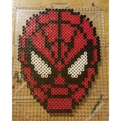 Spiderman perler beads by the_nerdy_girl_crafter