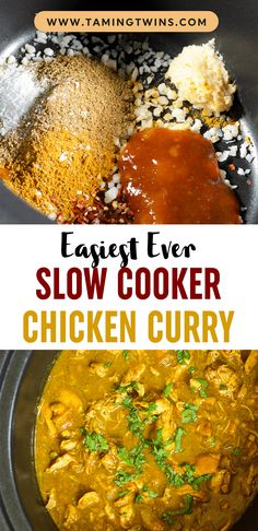 Throw everything in the crockpot turn it on, and come home to a comforting bowl of healthy chicken curry, your future self will thank you!!