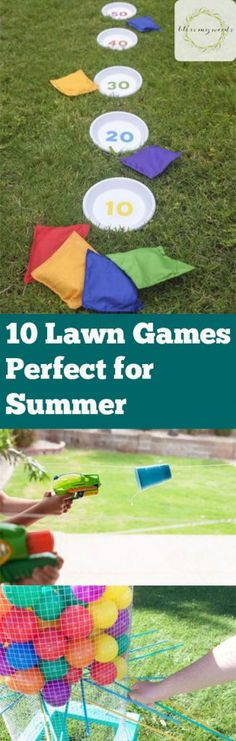 10 Lawn Games Perfect for Summer - Fun Lawn Games, Outdoor Activites, Outdoor Activites for Kids, Kid Stuff, Outdoor Kid Activites, Outdoor Games, Fun Outdoor Games, Outdoor Party Game Ideas, Popular Pin