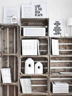 #white #wood #shelves #minimalist #interior #design