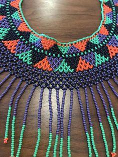 Crochet Necklace, Beaded Necklace, Hama Beads, Artisan, Inspired, Etsy, Crafts, Handmade, Jewelry