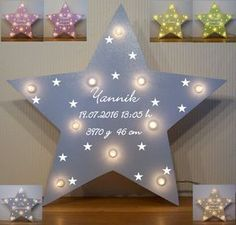 Schlummerlicht kleine Sterne Lampe Geschenk Baby Geburt Taufe mit Name auch LED … Slumberlight Little Star Lamp Gift Baby Birth Baptism with Name Also LED FOR SALE Birth Gift, Baby Birth, Breastfeeding Techniques, Star Lamp, Baby Room Colors, Baby Zimmer, Baby Shower, Little Star, Free Coloring
