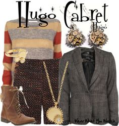 Inspired by Asa Buttierfield as Hugo Cabret in Martin Scorsese's 2012 film adaptation Hugo.