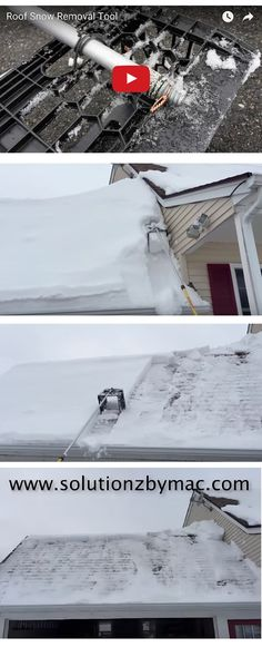 This is a home made roof snow removal tool that is made from items that probably have around the house.  Click on the image and the video will play.  Enjoy ;)