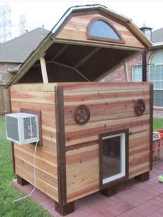 18 Diy Extra Large Dog House Diy Extra Large Dog House - DIY Extra Dog House Finally there is a beautiful indoor dog kennel for great How to Build a Dog Kennel in 3 Easy Steps 21 . Double Dog House, Extra Large Dog House, Large Dogs, Small Dogs, Custom Dog Houses, Cool Dog Houses, Air Conditioned Dog House, Grande Niche, Dog House Plans