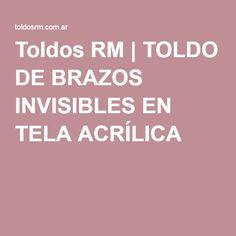 Toldos RM | TOLDO DE BRAZOS INVISIBLES EN TELA ACRÍLICA
