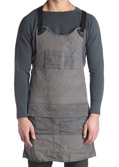 Trusty Work Apron- Dipped yoke, reinforced attachments, covered pocket to…