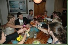 Prom dinner at home.  Parent Co-op.