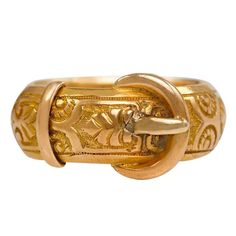 Victorian Gold Buckle Motif Ring, circa 1884