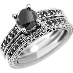 Beautiful Displayed is our unique carat fancy black diamond engagement ring set The rings are embellished with high quality black diamonds and e in all precious