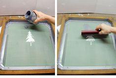 DIY screen printing by The Art of Doing Stuff #ScreenPrint