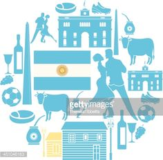 A set of Argentine related icons. See below for more travel images. Doodles, Travel Images, Argentine, Icon Set, Vector Icons, Black And White, Poster, Mayo, Vectors