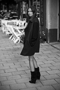 Mango coat & Isabel Marant boots