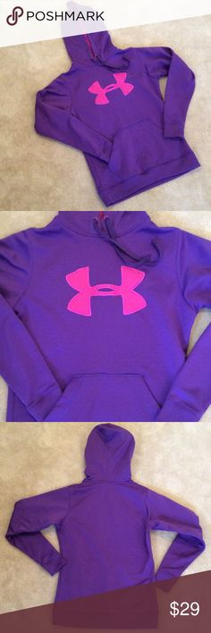 💰SALE‼️Under Armour sweatshirt Purple and pink fun with Under Armour size small, pullover, great condition, never worn Under Armour Tops Sweatshirts & Hoodies