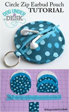 Easy DIY Earbud Pouch