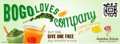 Jamba Juice: Buy One Get One FREE Smoothie or Juice Coupon