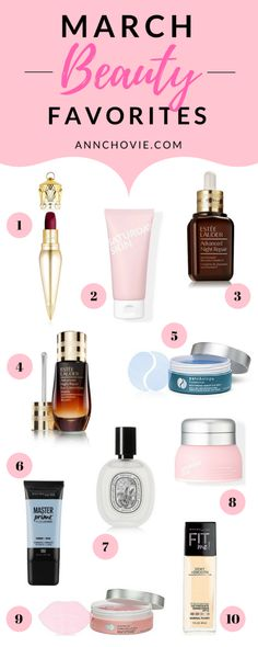 """I'm starting a new monthly series called """" Monthly Beauty Favorites ."""" I've curated a selection of my favorite beauty and makeup finds for the month, with picks, shoppable links, and my in-depth beauty reviews! 