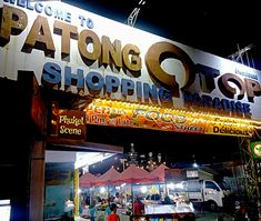 Patong Otop shopping paradise in Phuket and entertainment zone is where you can find great bargains on clothing, shoes, bags, etc. Plus its where there's a ton of small hut style bars and several food places are too. A must visit. Phuket Shopping, Bars And Clubs, Food Places, Nightlife, More Fun, Paradise, Scene, Entertainment, Canning