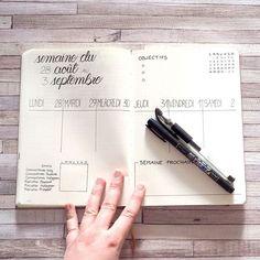 Bullet Journal et Blogging - Planning hebdomadaire