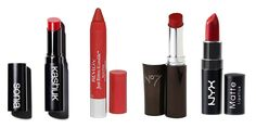 Our 10 Favorite Red Lipsticks Under $10 - blue based ones to try at local drug stores!