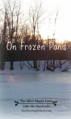 Beautiful frozen pond.  Smiling & Waving, Sharon