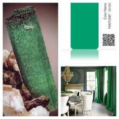 A #raw emerald, Pantone's #coloroftheyear #emerald, & a dining rm w/ emerald & grey accents.