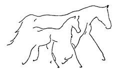 Jumping Horse Outline Clip Art