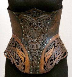 Leather corset by Andrew Kanounov.