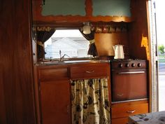 Wooden with oven and sink skirt