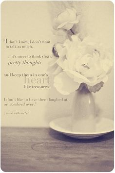 dear pretty thoughts by annegirl. I so agree with you.