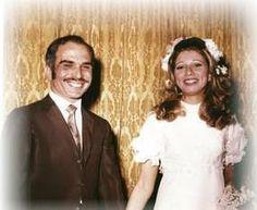 Rey Hussein de Jordania y Alía