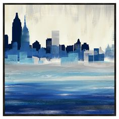 beautiful <3 silhouettes! Cityscape Framed Print
