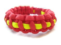 Red and Thin Yellow Stripe Paracord Survival by ACORDING2MACEY