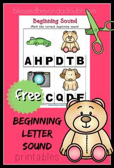 FREE Beginning Letter Sounds Printables.
