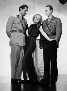 Cary Grant, Jean Harlow, Franchot Tone in Suzy