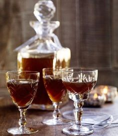 🍁Yule. Spicy-gingerbread-vodka...Debbie Major's flavoured vodka recipe, made with ginger, cinnamon, vanilla and cloves, makes a perfect edible gift to give at Christmas time.