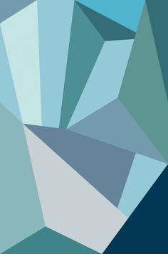 blue geometric poster - Google zoeken
